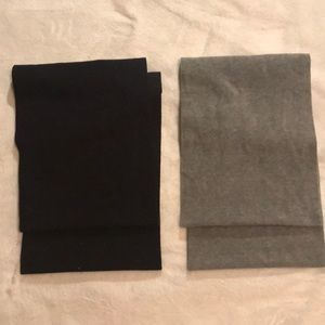 Black and gray infinity scarves